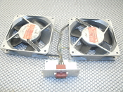 Centaur 25 CU55B5 Dual Fans with Connectors. Used. 100V, 50/60Hz. 3K10, 3K11.