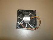 "Nidec D08K-24TU Case Fan. RK2-3847. 24V DC, 0.13A. 58B (AX). 3 1/8"" 3 1/8"" X 1"". Working pull from a HP LaserJet 400 color M451nw."