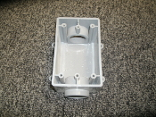 "Cantex 5133465, 5133465U, Rectangle Outlet Box, PVC, Grey. New. 1"" Type FSC. 088700065949. VOL 21 0 CU IN (344 2 CM4) 1"" FSC (27)."