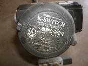 Tyco K-Switch KS011D31 Raintight Type 4/4X Position Indicating Switch. Used, Working Pull. Industrial Control Equipment. 15 A, 125 or 250 VAC, 1/2 A, 125 VDC, 1/4 A, 250 VDC.