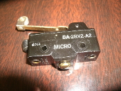 Micro Switch BA-2RV2-A2 BA Series Premium Large Basic Switch, Sunnen Products PES101A. Single Pole Double Throw Circuitry, 20 A at 250 Vac, Roller Lever Actuator (Stainless Steel Roller)