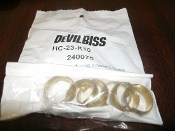 DeVilbiss HC-23-K10. 240075 Comp Ring Kit for Connections. 658701005321. Retail Bag of 6. See Picture.