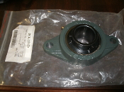 "NTN FL208. 2-Bolt Flange Bearing with Ball Bearing Insert and 1-1/2"" Bore. Type: VB. 910-03/171. 16/187. INT: 901. 421677092."