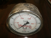 Varco PH-60 PSI Gauge. Used. Ft.Lbs. X 1000. 316 SS Tube and Socket.