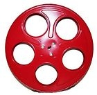 "Hollywood Mega Metal Movie Reel for 35mm Film. Red. 2566. 853948001130. New. Size: 9.9"" in diameter and a 1.8"" thickness."