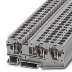 Phoenix Contact 3036466 ST 6-Twin. New. 50 Count. Feed-through modular terminal block, Spring-cage connection, Cross section: 0.2 mm- 10 mm, AWG 24 - 8, 8.2 mm, Gray, 4017918884659.