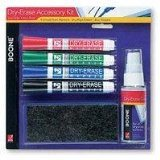 Boone Dry Erase Accessory kit Write, Erase, Spray and Wipe Clean. 51-659672 026426659677 UPC: 026426659677 ASIN: B0025Z3J38