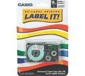 "Casio Label Printer Tape. XR9-WES. EZ-Label Printer Label It! 9mm, 3/8""Universal Casio Tape Fits All Casio Label Printers. White and Black. 079767155568."